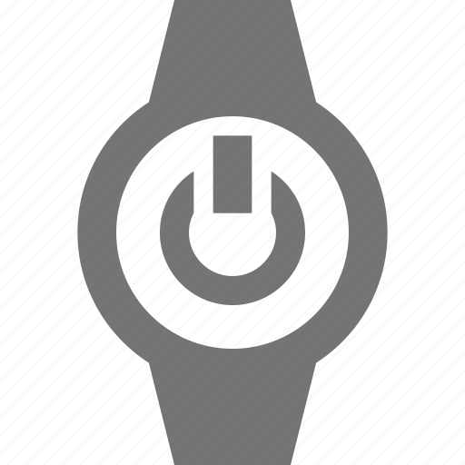 power, smart watch, watch icon