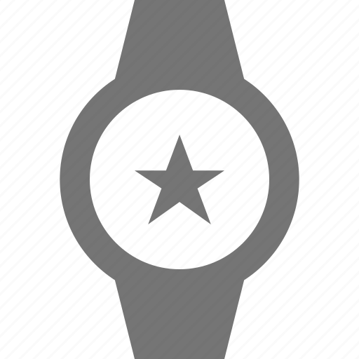 favorite, smart watch, star, watch icon