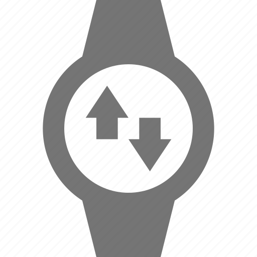 arrows, smart watch, sync, watch icon