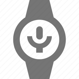 microphone, record, smart watch, watch icon