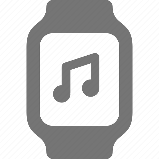 audio, music, smart watch, watch icon