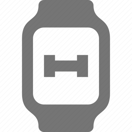 dumbell, fitness, smart watch, watch, weight icon