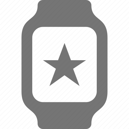 favorite, smart watch, star, watch icon