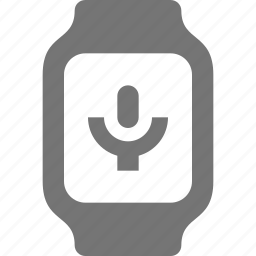 microphone, record, smart watch, voice, watch icon