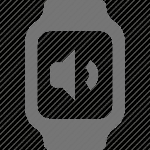 smart watch, sound, volume, watch icon