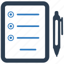 agenda, check, checklist, list, task icon