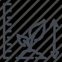 farm, farming, growth, level, plant, smart, technology icon