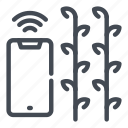 farm, farming, growth, monitoring, notification, plant, smart icon