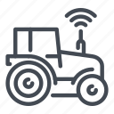 farm, farming, network, signal, smart, technology, tractor icon