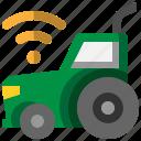 tractor, remote, control, smartfarm, agriculture, machinery, future