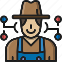 farmer, gardener, user, avatar, character, man, profession