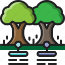 tree, data, orchard, farm, smart, plant, nature