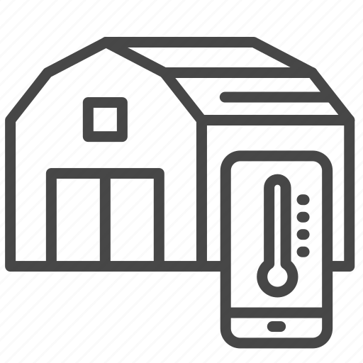 Agriculture, barn, online, smart, stock, temperature, warehouse icon - Download on Iconfinder