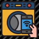 mobilephone, wash, machine, cloth, smarthome, wifi