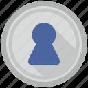 access, door, hole, home, key icon