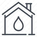 drink, drop, home, house, sewage, smart, water icon