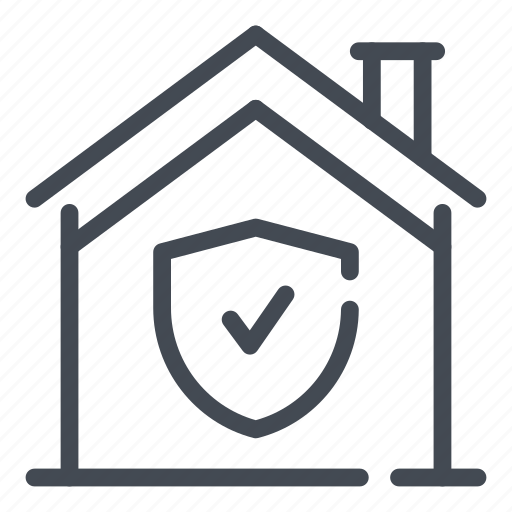 home, house, protection, safety, security, shield, smart icon