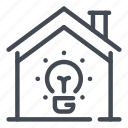 bulb, electric, electricity, home, house, light, smart icon