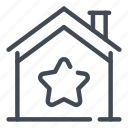 building, estate, home, house, real, smart, star icon