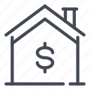 dollar, estate, home, house, payment, real, smart icon