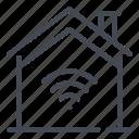 home, house, internet, online, smart, web, wifi icon