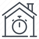 building, fast, home, house, smart, stopwatch, time icon