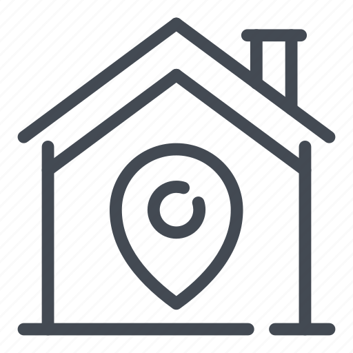 home, house, location, map, pin, pointer, smart icon