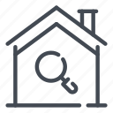 estate, find, home, house, real, search, smart icon