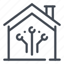 connection, estate, home, house, online, real, smart icon