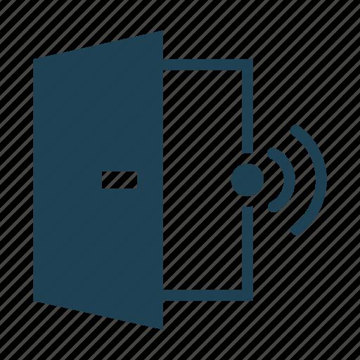 access, alarm, door, door sensor, open, security, sensor icon