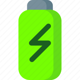 battery, charge, charging, electricity, energy, full, power icon
