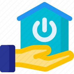 apartment, home, network, power, share, smart icon