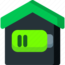 apartment, battery, charge, empty, home, power, smart icon