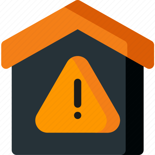 alert, attention, danger, home, house, smart, warning icon