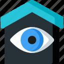 check, control, eye, home, house, smart, view icon