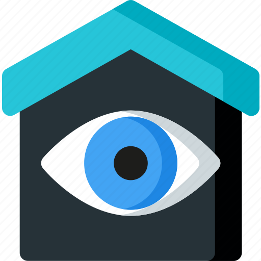 check, control, eye, home, house, smart, view icon