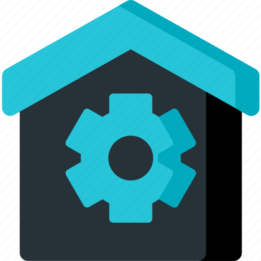 gear, home, house, options, preferences, settings, smart icon