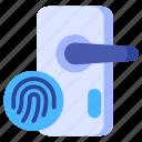 biometric, door, fingerprint, identification, locked