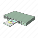 appliance, dvd player, equipment, household, machinery icon