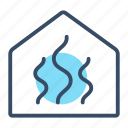 control, heating, intelligent, regulation, thermo, thermoregulation, warm icon