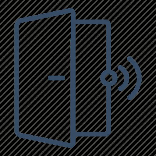 access, alarm, door, door sensor, protection, security, sensor icon