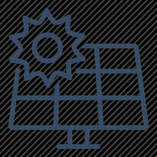 Control, elektricity, energy, panel, solar, solar panel, sun icon - Download on Iconfinder