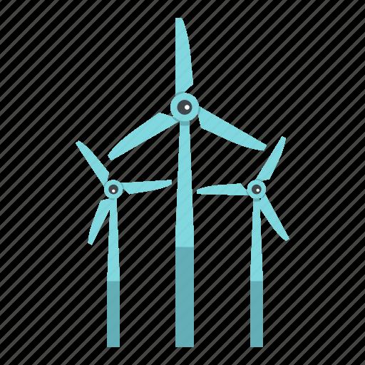 ecology, energy, power, renewable, turbine, wind, windmill icon