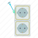 connector, electric, plug, power icon