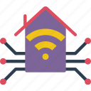 home, monitor, smart, wireless icon