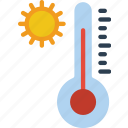 home, hot, smart, temperature icon