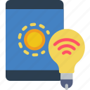 home, lighting, mobile, remote, smart icon