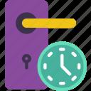 door, home, smart, timers icon