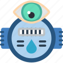 home, monitor, smart, usage, water icon
