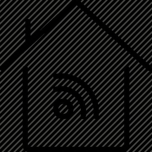 home, smart, wifi icon